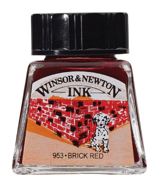 Drawing Ink 14ml Brick Red
