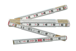 6' Red End Folding Ruler