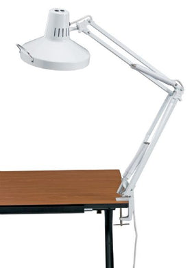 White Swing-Arm Combination Lamp with CFL Bulb