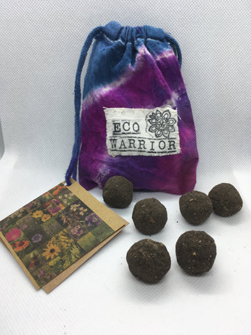 Eco Warrior Blend (6 pack) - Radical Roots Seed Bomb Company