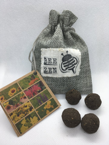Bee Zen Bees Wild - Radical Roots Seed Bomb Company