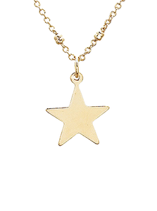 Gold Star Short Necklace
