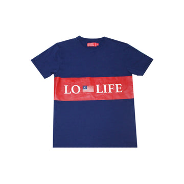 LL Stripe Flag Tee - Navy