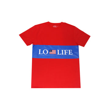 LL Stripe Flag Tee - RED