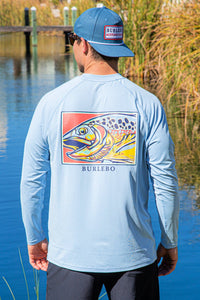 Burlebo Trout Performance Sun Tee