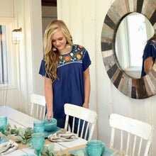 Navy Blue Savannah Top