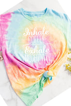 Inhale Coffee Exhale Negativity Tie Dye Tee