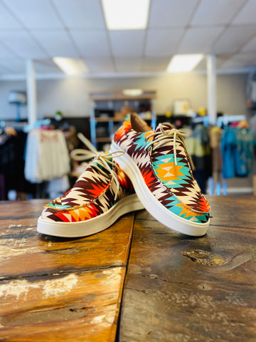 Orange Aztec Sneaker