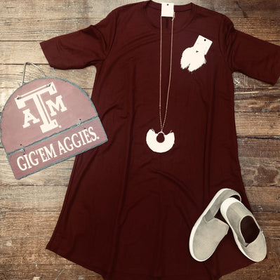 Maroon Traci Dress