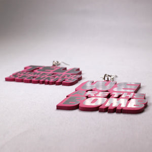 DETROIT'S EARRINGS - HLS / BOMB (Pink/Silver)