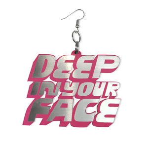 DETROIT'S EARRINGS - RAG / FACE (PINK)