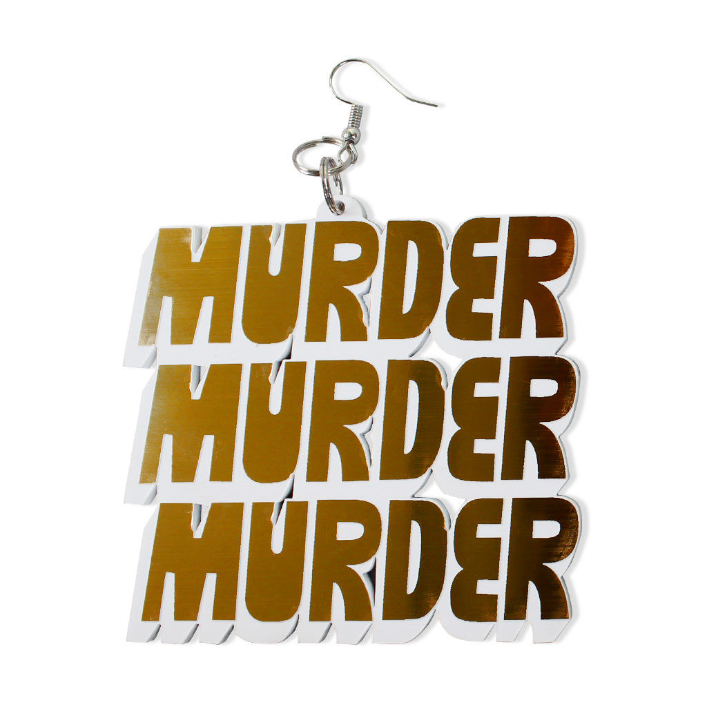 DETROIT'S EARRINGS - MURDER / KILL (GOLD)