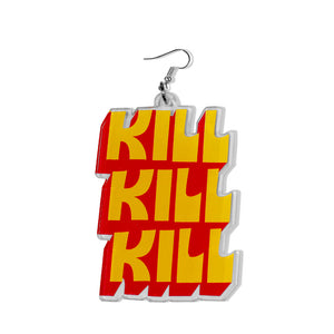 DETROIT'S EARRINGS - MURDER / KILL (Clear/ Acrylic)