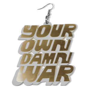 DETROIT'S EARRINGS - FIGHT / WAR (Gold/Silver)