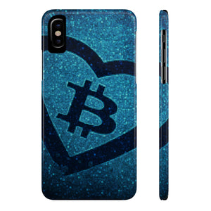Bitcoin Blue Heart