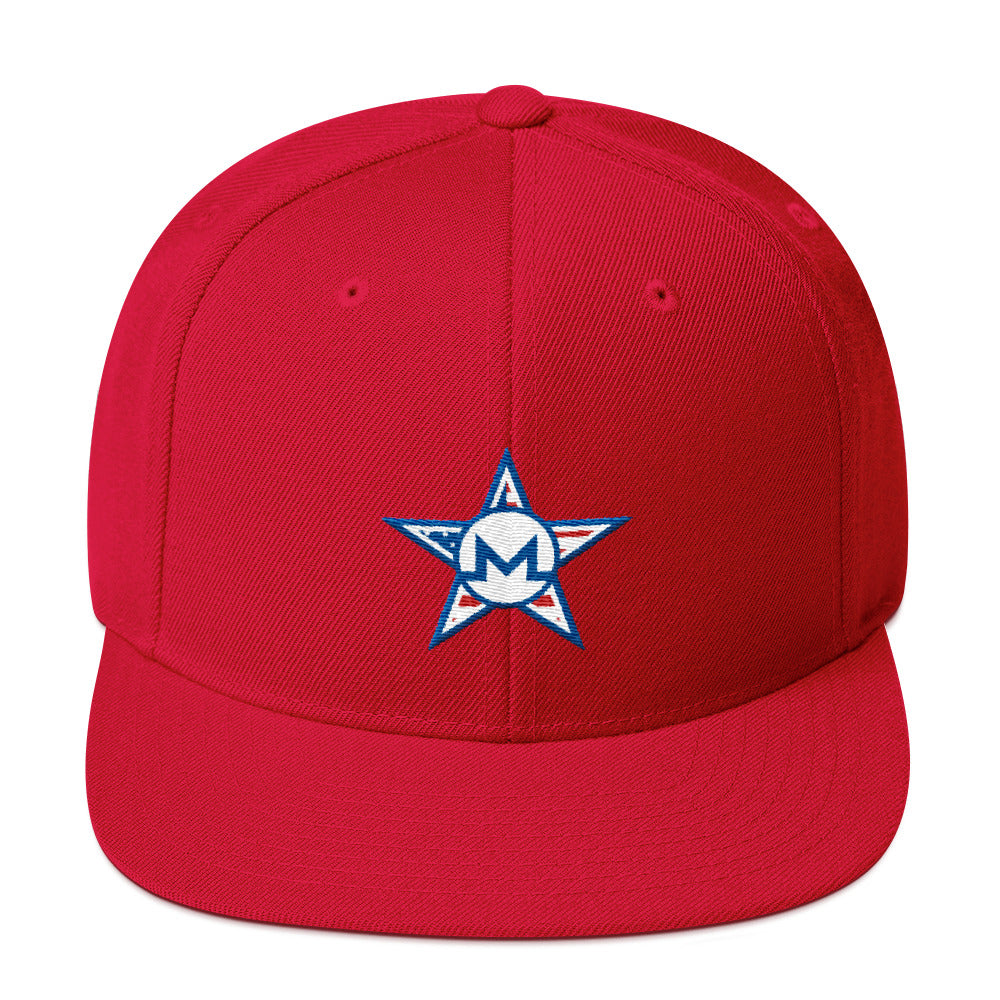 Monero July 4th Snapback Hat