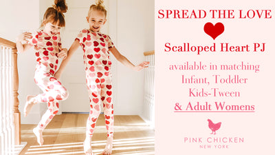 Pink Chicken Heart PJ