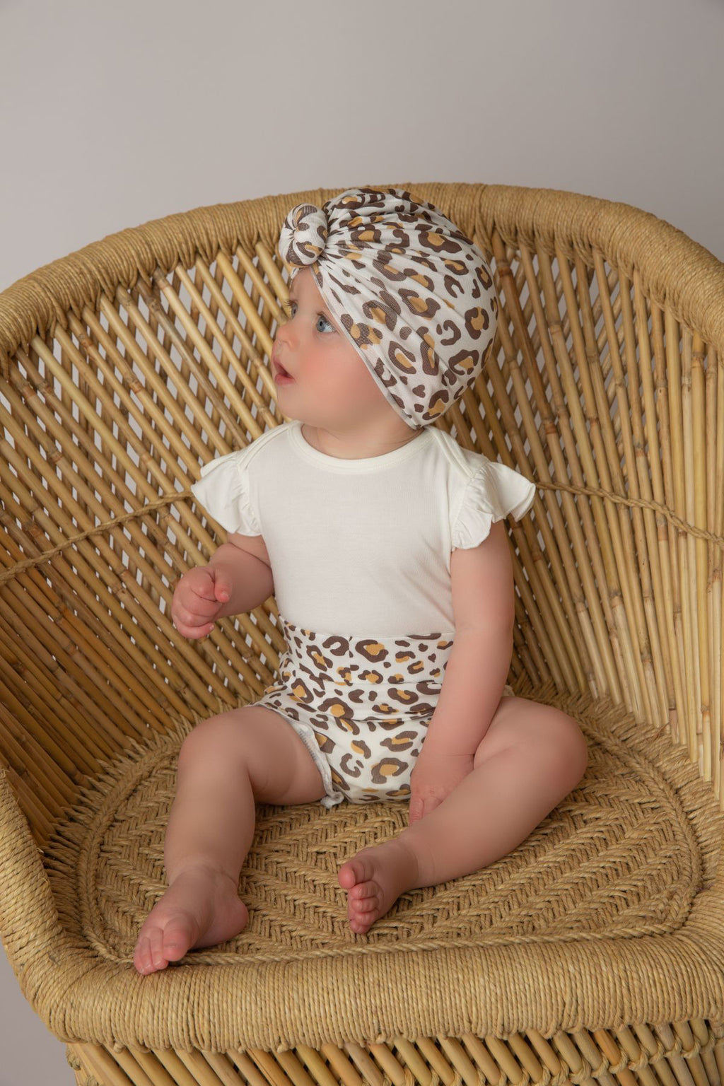 Leopard Knit Turban