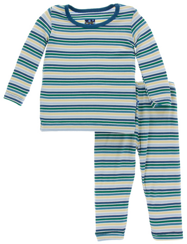 KicKee Pants Boy Perth Stripe Long Sleeve Pajama Set - kkgivingtree