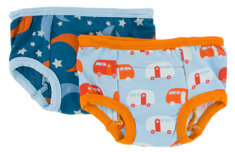 Training Pants Set: Twilight Moon and Stars & Pond Camper