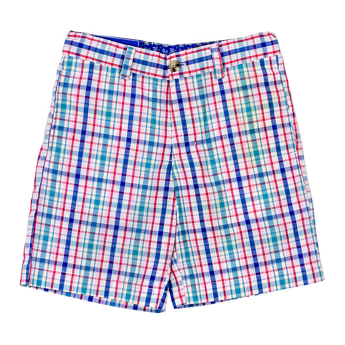 Summertime Plaid Twill Shorts