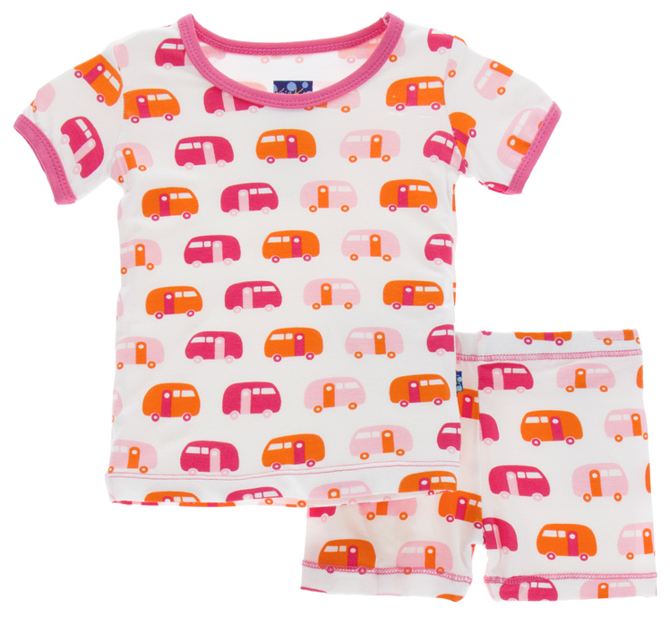 Natural Camper Short Sleeve Pajama Set w/ Shorts