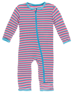 Flamingo Anniversary Stripe Coverall w/ Zipper