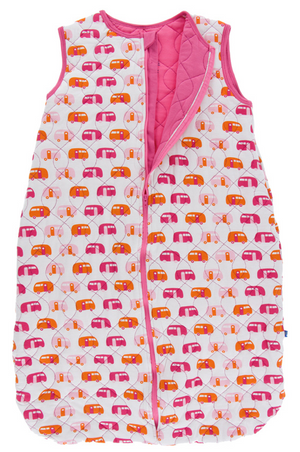 Natural Camper w/ Flamingo Quilted Sleeping Bag