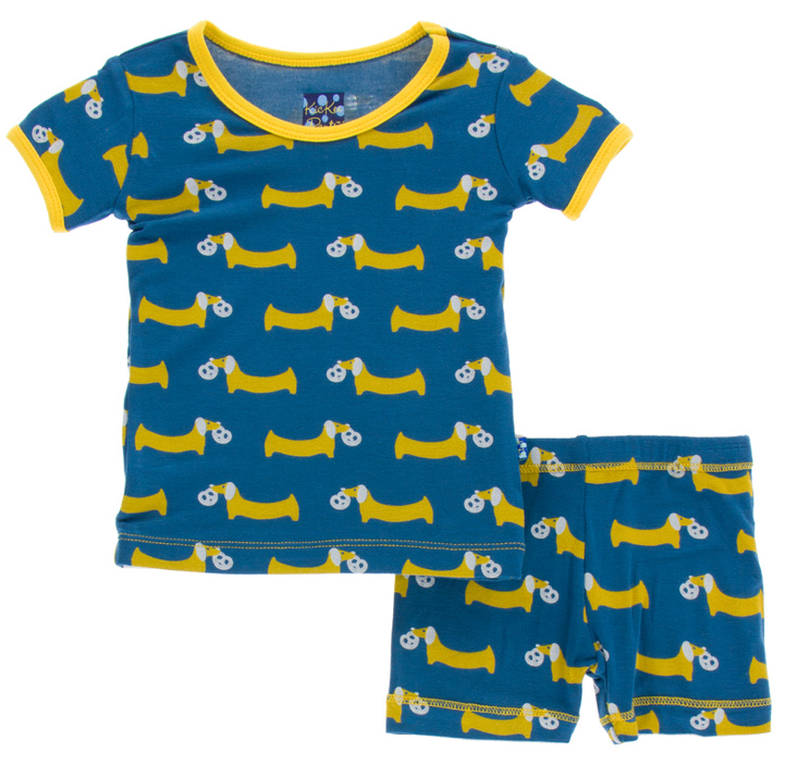 Twilight Pretzel Pup Short Sleeve Pajama Set w/ Shorts