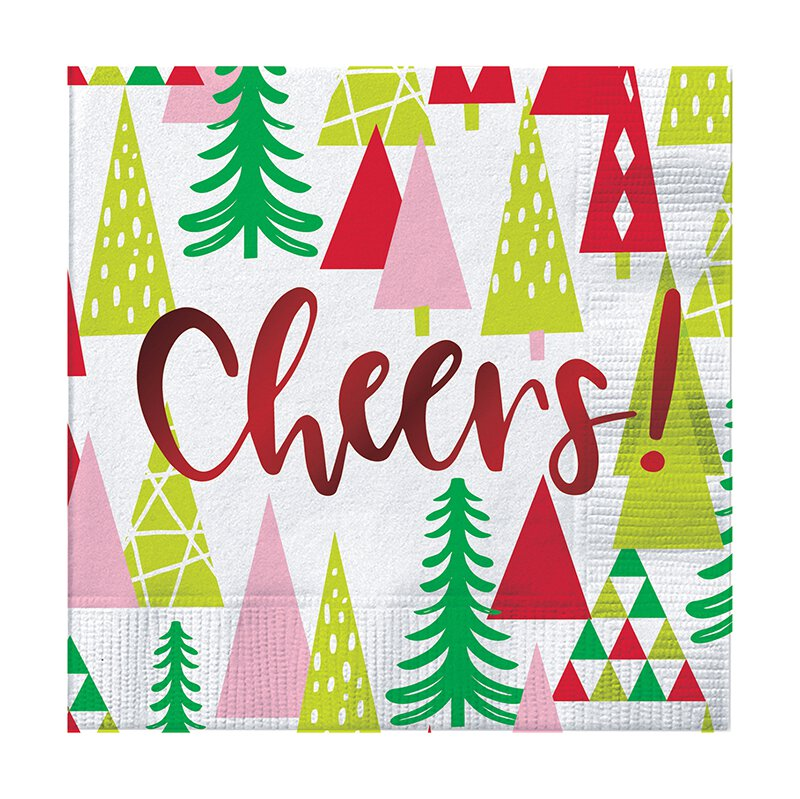 Cheers Napkins with Trees - Pack of 20
