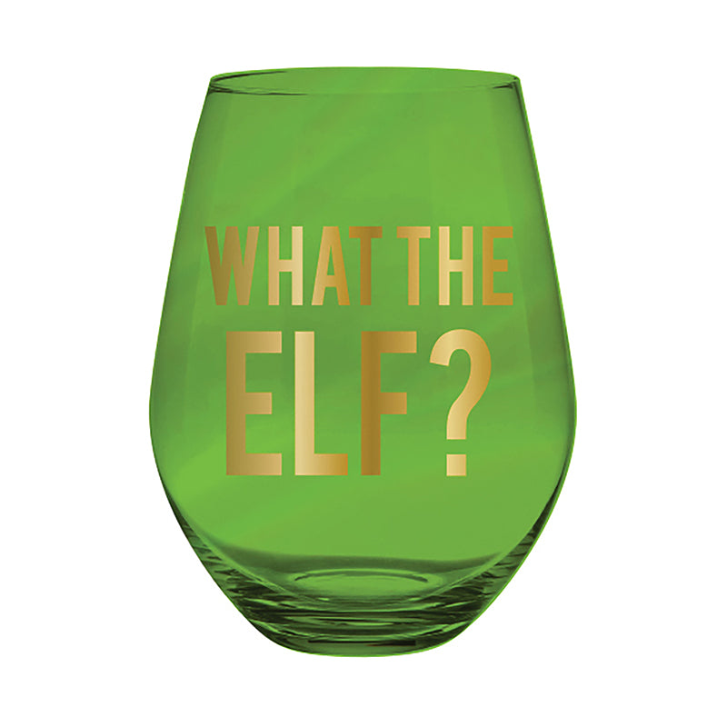 What the Elf? Jumbo Wine Glass