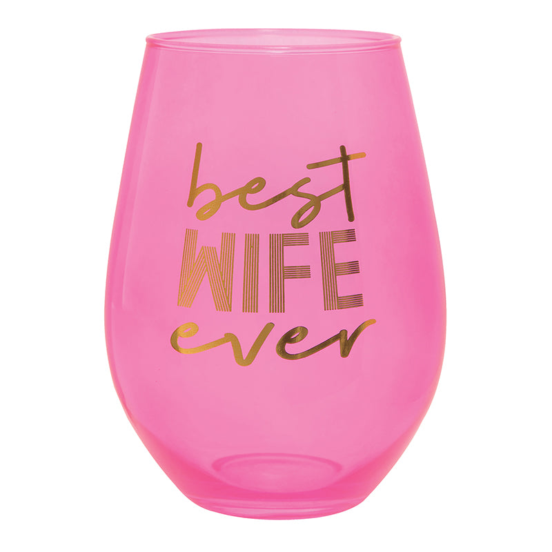 Best Wife Ever Jumbo Wine Glass
