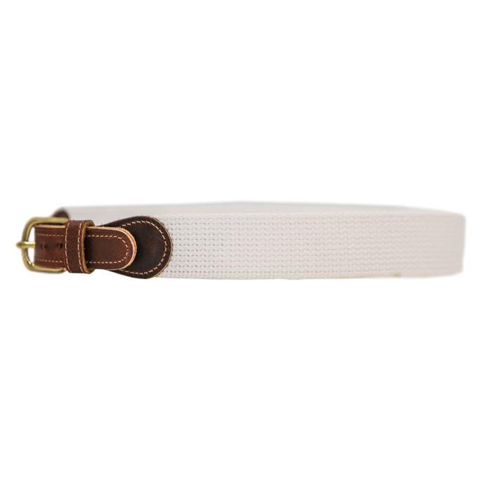 White Canvas Buddy Belt