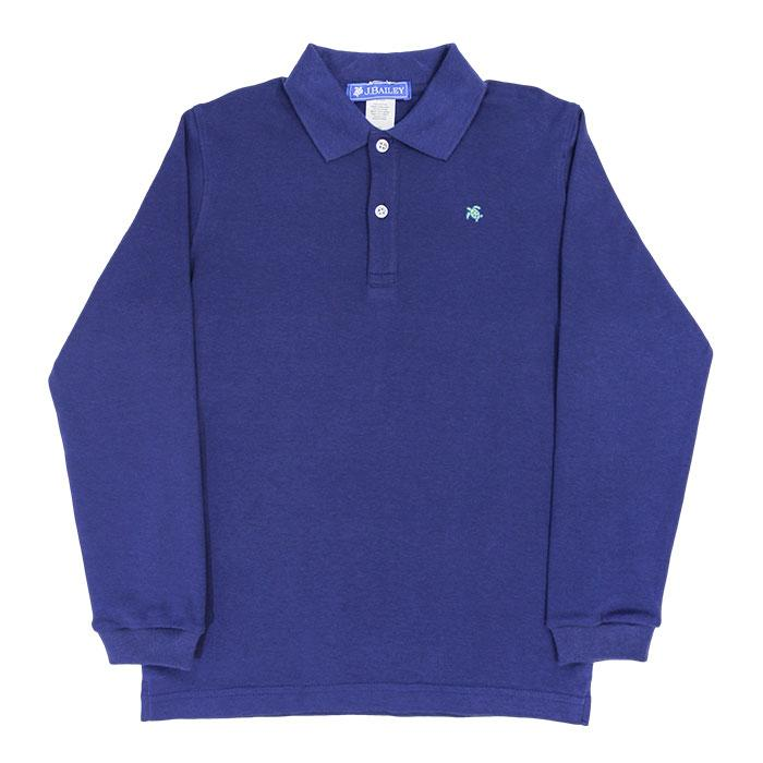 Harry Long Sleeve Polo - Navy