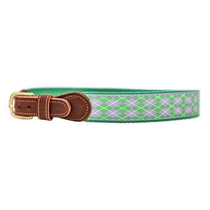 Argyle Buddy Belt - Purple/Green