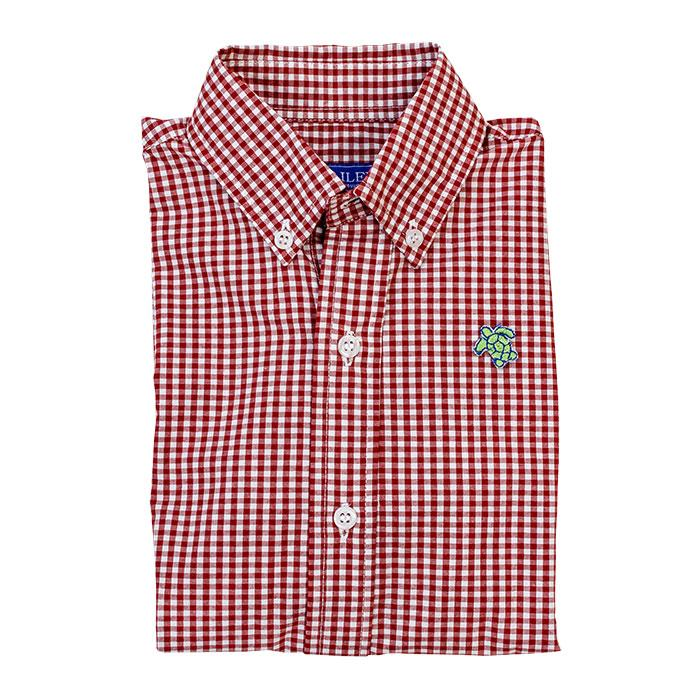 Red Check Roscoe Button Down Shirt