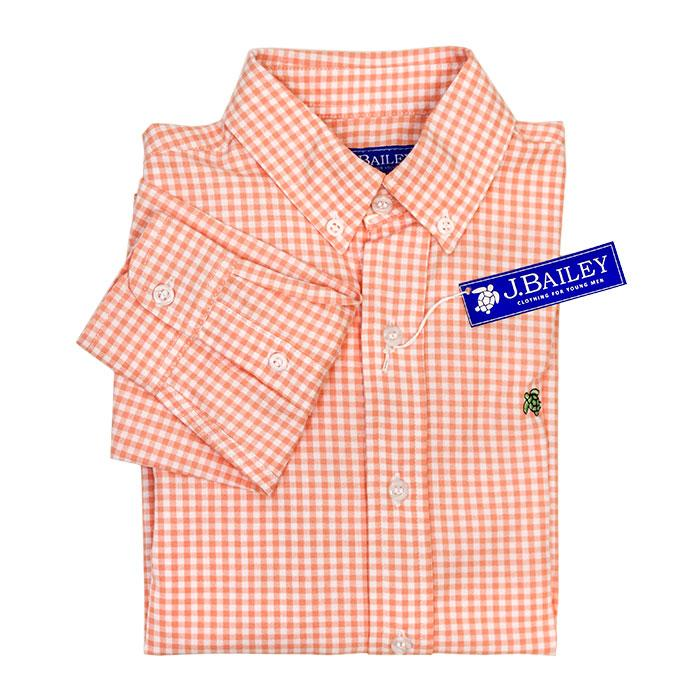 Cantaloupe Check Button Down Shirt