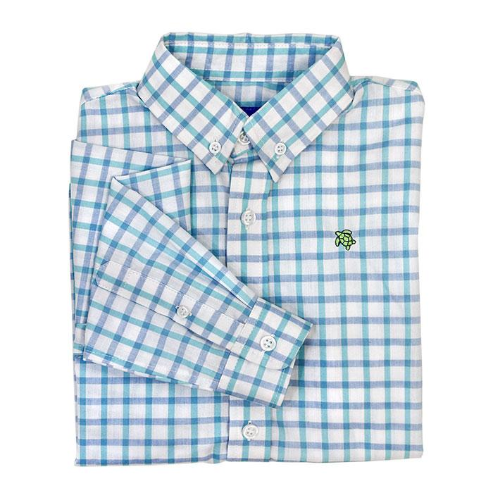 Blue Marina Check Button Down Shirt