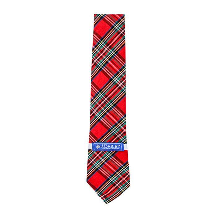 The J Bailey Long Tie in Tartan Plaid
