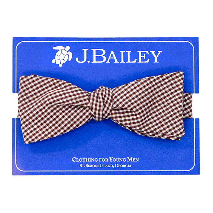 Brown Micro Check Bow Tie