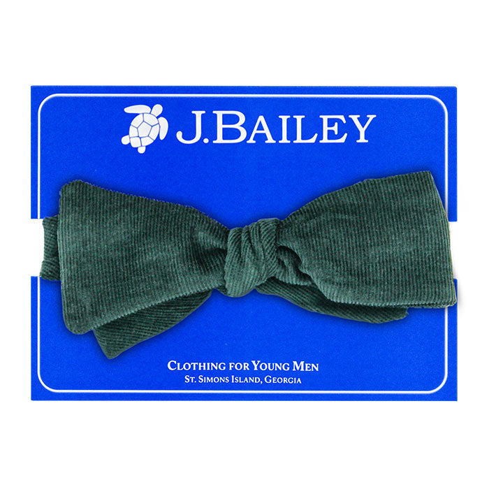 Forest Green Corduroy Bow Tie