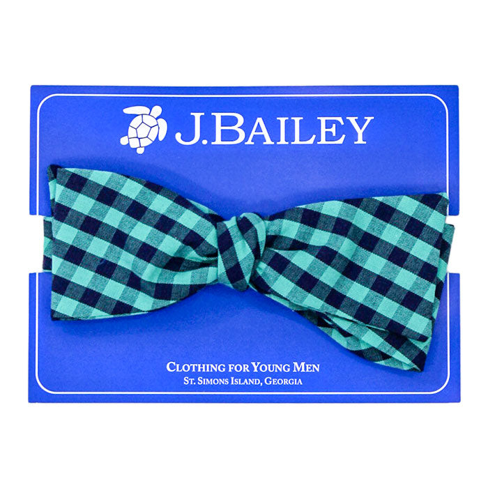 Moonlight Plaid Bow Tie