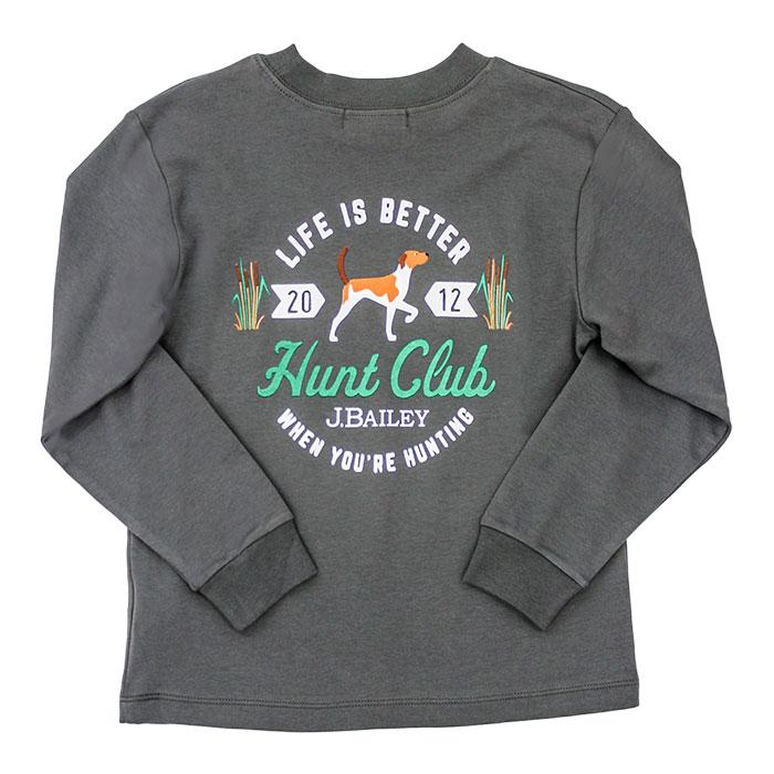 The J Bailey Logo T-Shirt Hunting Club on Grey