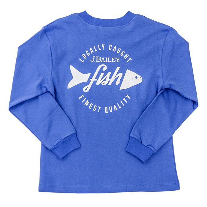 The J Bailey Logo T-Shirt Locally Caught on Periwinkle