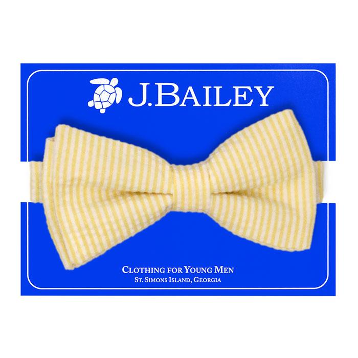 Yellow Seersucker Johnny Bow Tie