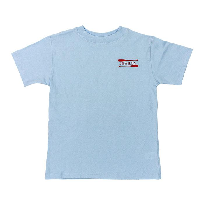 Oars on Light Blue J. Bailey Logo Tee Shirt