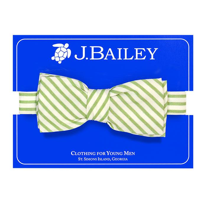 Johnny Bow Tie - Aloe Stripe
