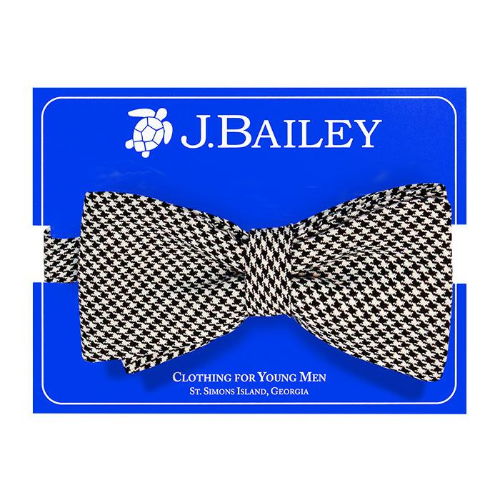 Johnny Bow Tie - Black & White Houndstooth