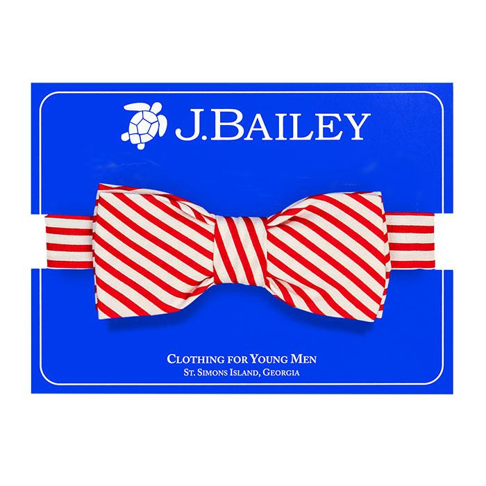 Red Stripes Bow Tie