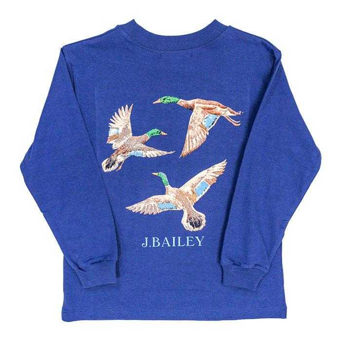 J. Bailey Logo Tee - Ducks on Royal